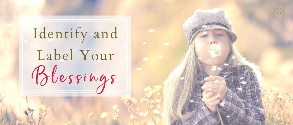 How to Raise Grateful Kids - Identify your blessings